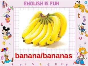 banana banana/bananas