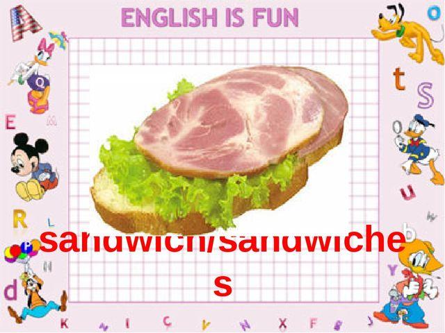 sandwich/sandwiches