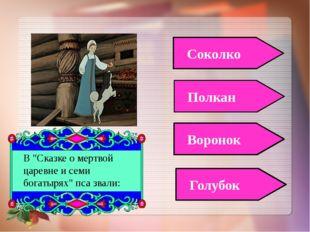 """В """"Сказке о мертвой царевне и семи богатырях"""" пса звали: Соколко Полкан Ворон"""