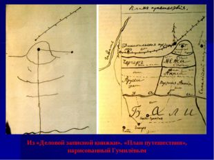 Из «Деловой записной книжки». «План путешествия», нарисованный Гумилёвым