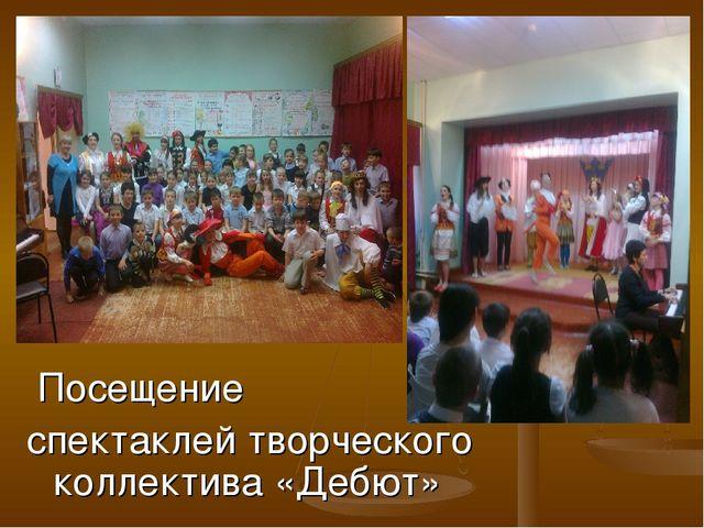 Посещение спектаклей творческого коллектива «Дебют»