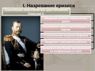 Важнейшие мероприятия царствования Николая II Введение золотого обеспечения р