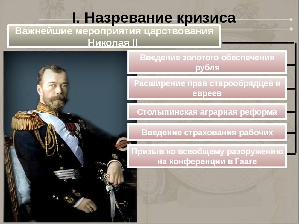 Важнейшие мероприятия царствования Николая II Введение золотого обеспечения р...