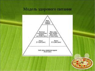Модель здорового питания