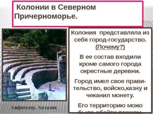 Колонии в Северном Причерноморье. Колония представляла из себя город-государ