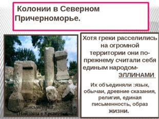 Колонии в Северном Причерноморье. Хотя греки расселились на огромной террито