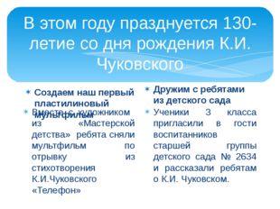 В этом году празднуется 130-летие со дня рождения К.И. Чуковского Создаем наш