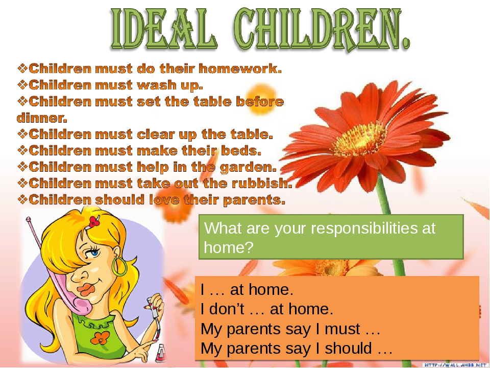 What are your responsibilities at home? I … at home. I don't … at home. My pa...