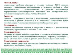 Актуальность: электронные средства обучения в условиях введения ФГОС второго