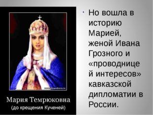 Но вошла в историю Марией, женой Ивана Грозного и «проводницей интересов» кав