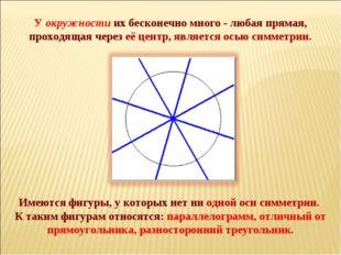 Имеются фигуры, у которых нет ни одной оси симметрии. К таким фигурам относ