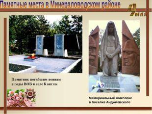 Памятник погибшим воинам в годы ВОВ в селе Канглы Мемориальный комплекс в пос