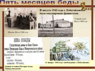 В августе 1942 года с. Побегайловское было оккупировано фашистами. Школа. Фот