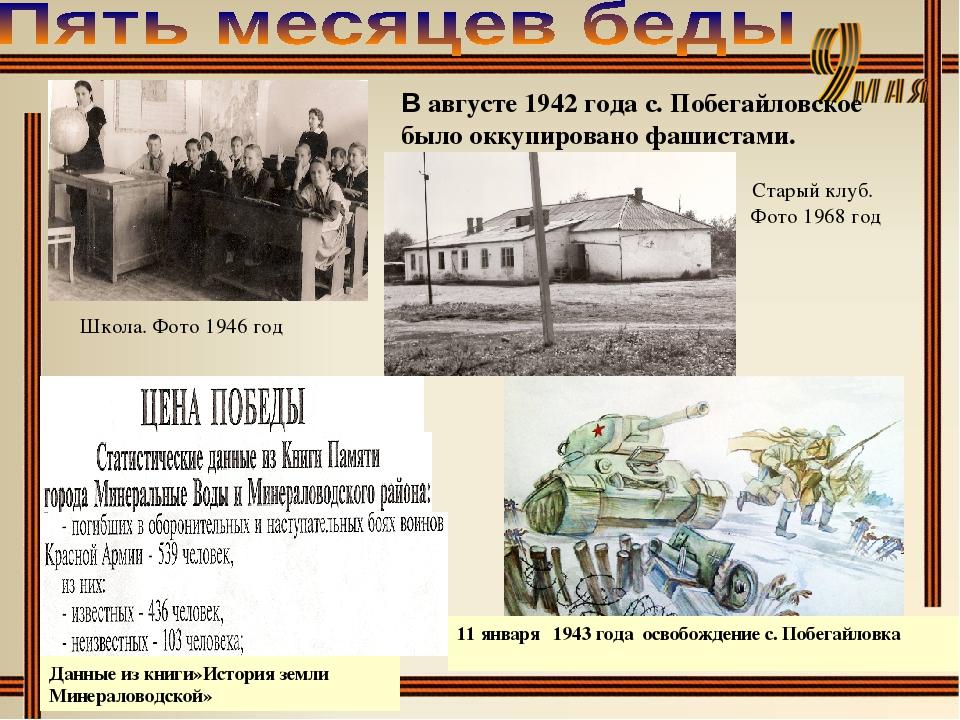 В августе 1942 года с. Побегайловское было оккупировано фашистами. Школа. Фот...