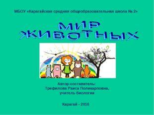 МБОУ «Карагайская средняя общеобразовательная школа № 2» Автор-составитель: Т