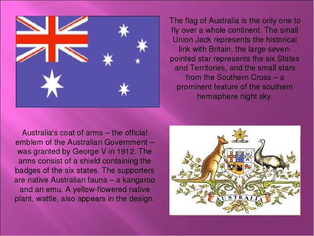 Australia's coat of arms – the official emblem of the Australian Government –...