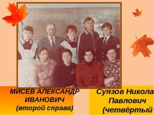 М МИСЕВ АЛЕКСАНДР ИВАНОВИЧ (второй справа) Суязов Николай Павлович (четвёртый