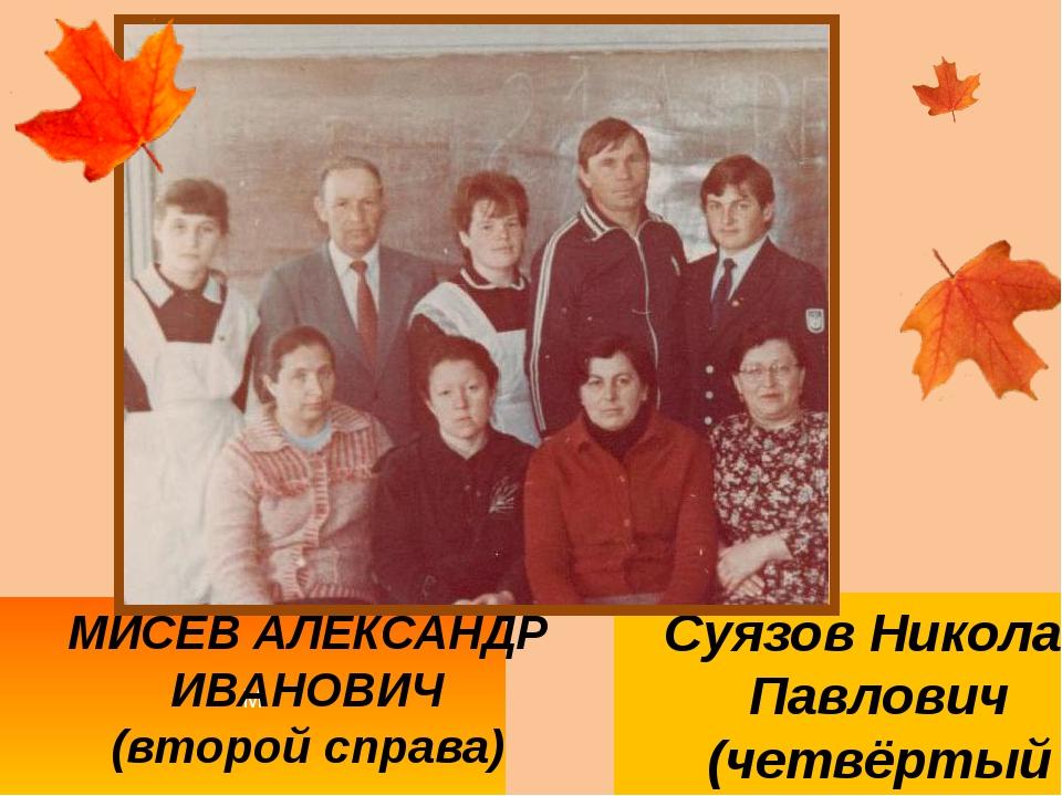 М МИСЕВ АЛЕКСАНДР ИВАНОВИЧ (второй справа) Суязов Николай Павлович (четвёртый...
