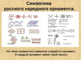Символика русского народного орнамента. Из таких элементов-символов создаётся