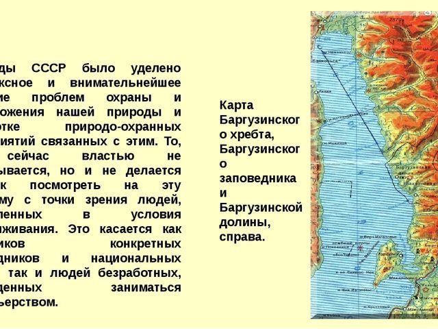 В годы СССР было уделено комплексное и внимательнейшее изучение проблем охр...