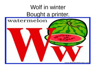 Wolf in winter Bought a printer.