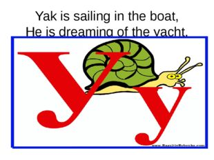 Yak is sailing in the boat, He is dreaming of the yacht.