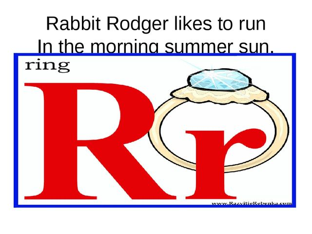 Rabbit Rodger likes to run In the morning summer sun.
