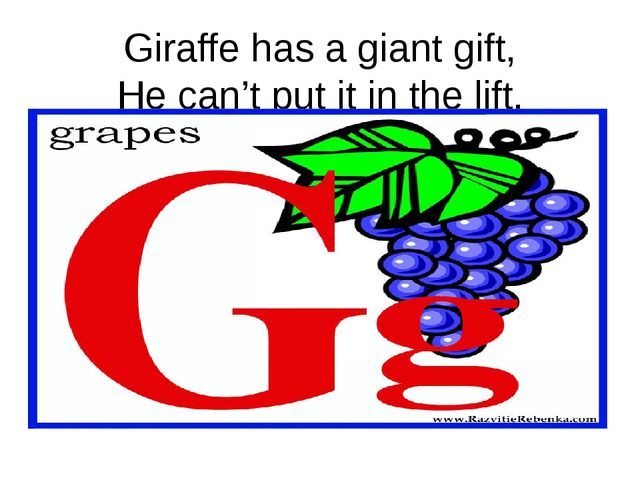 Giraffe has a giant gift, He can't put it in the lift.