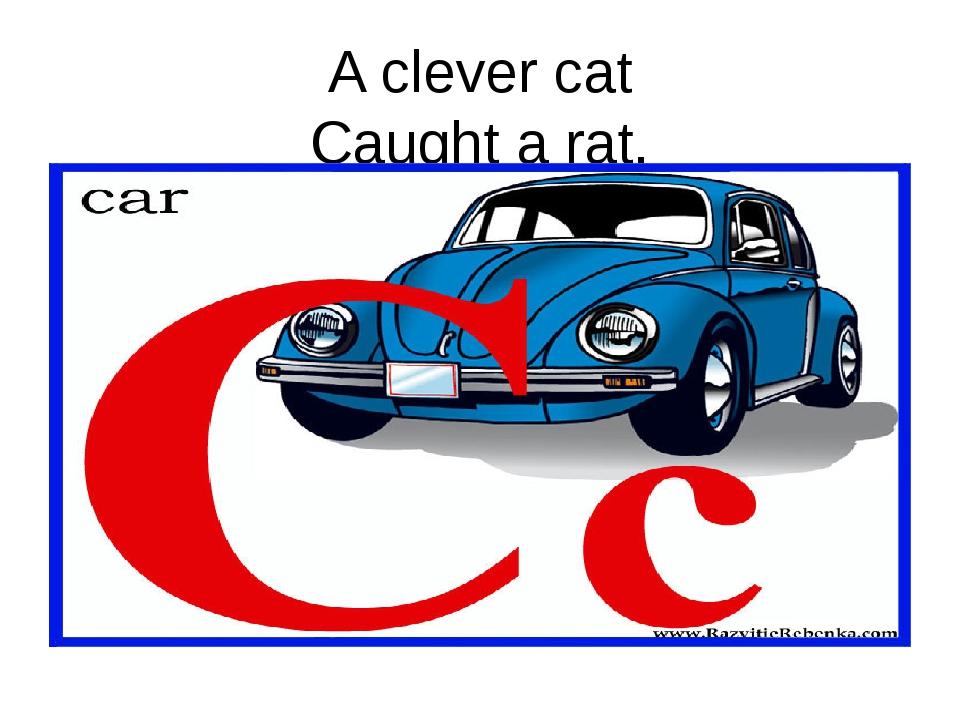 A clever cat Caught a rat.