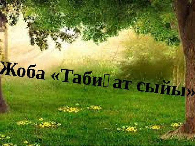 Жоба «Табиғат сыйы»