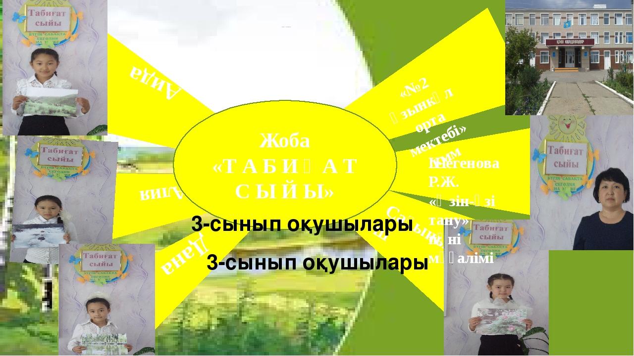 Алия Дана Сағыныш Аида Шегенова Р.Ж. «Өзін-өзі тану» пәні мұғалімі 3-сынып оқ...