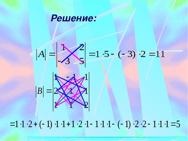 В частности, минор элемента определителя третьего порядка найдется по правилу...