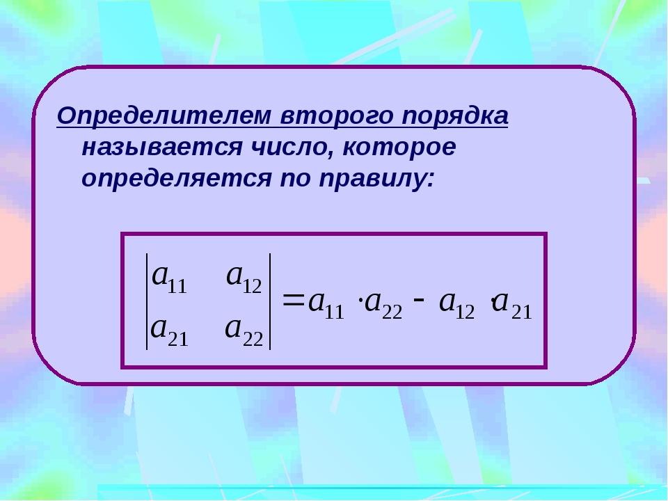 Минором некоторого элемента определителя называется определитель, полученный...