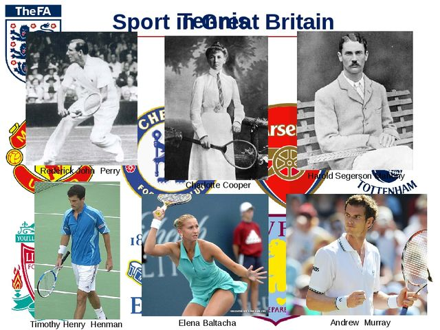 Sport in Great Britain Football Tennis Rederick John Perry Harold Segerson Ma...