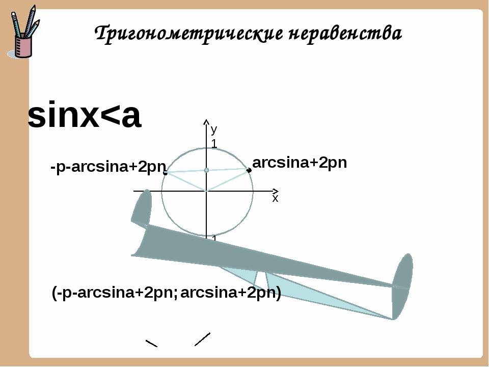arcsina+2pn -p-arcsina+2pn sinx
