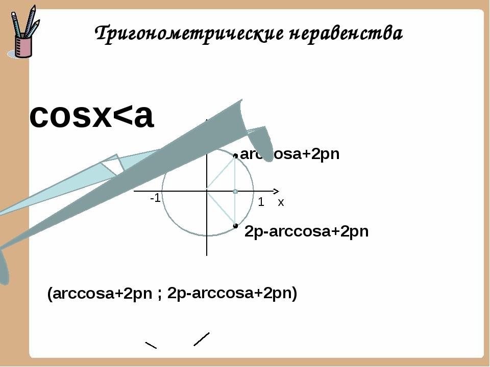 arccosa+2pn 2p-arccosa+2pn cosx