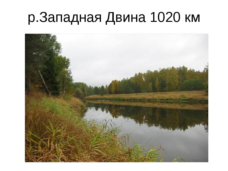 р.Западная Двина 1020 км