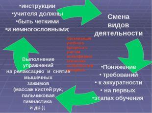 Организация учебного процесса с учетом психофизиологических особенностей учащ