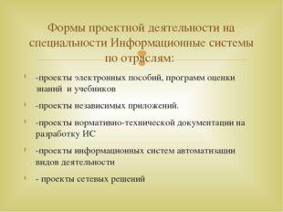-проекты электронных пособий, программ оценки знаний и учебников -проекты нез