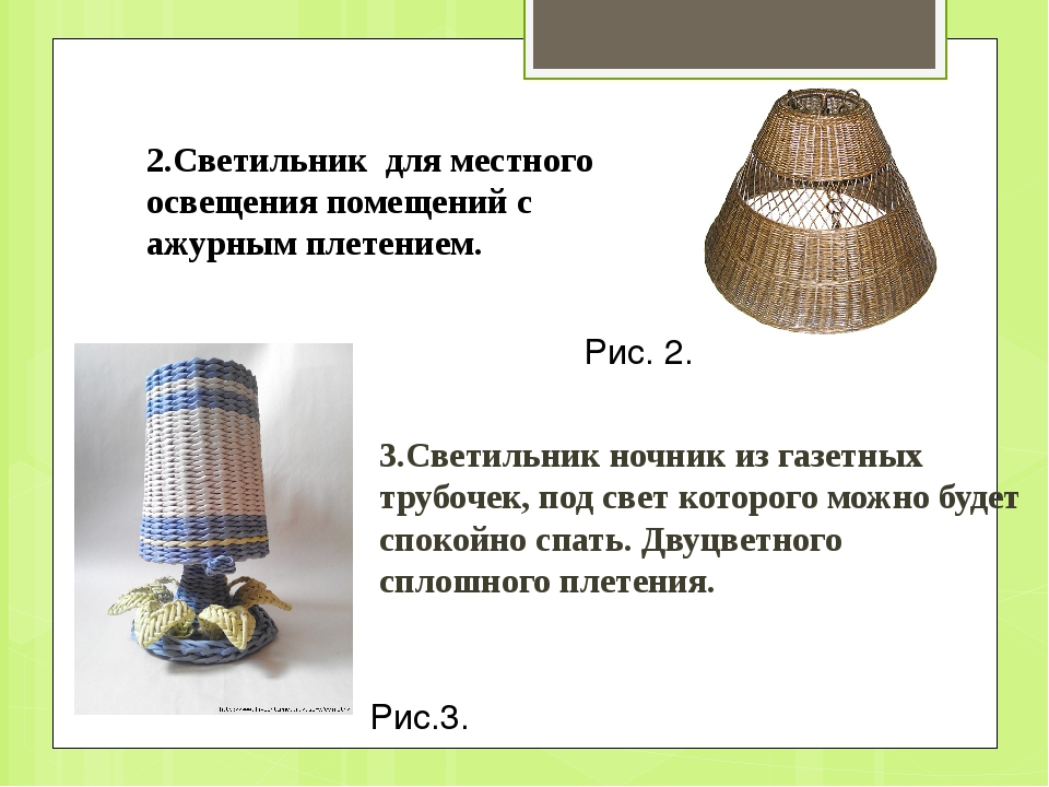 3.Светильник ночник из газетных трубочек, под свет которого можно будет споко...
