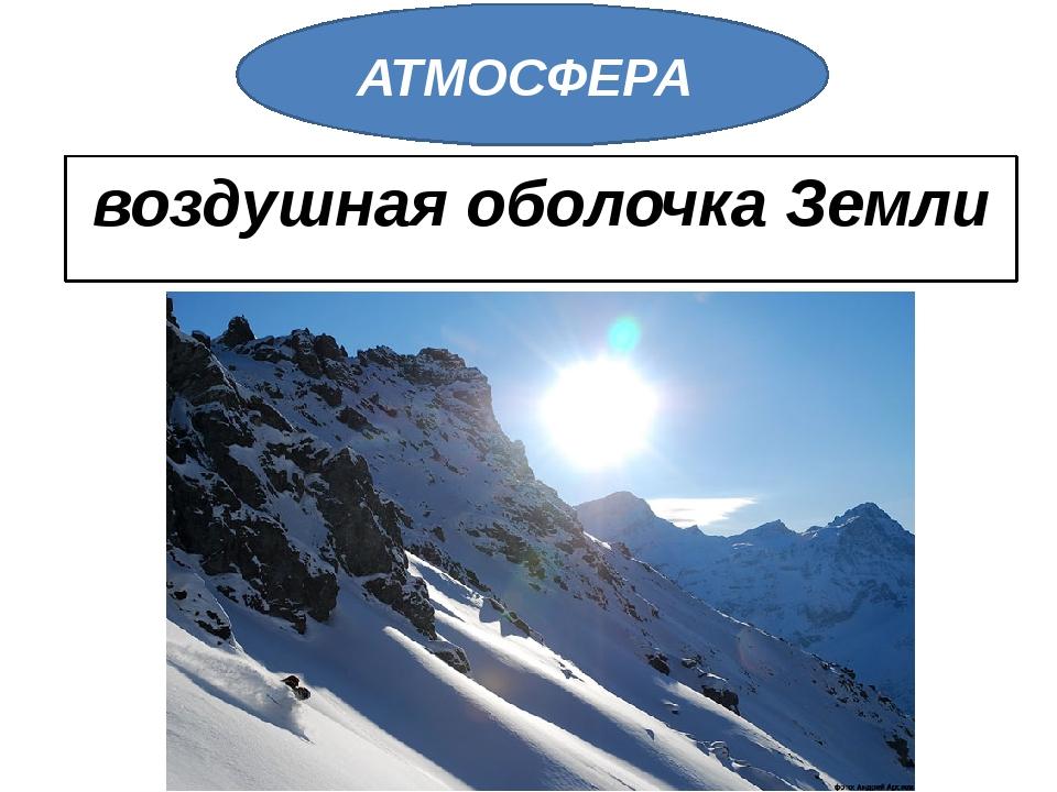 воздушная оболочка Земли АТМОСФЕРА