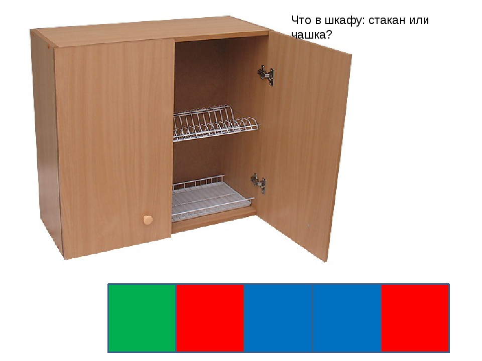 Что в шкафу: стакан или чашка?