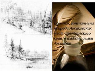 Вот так запечатлена природа Аксаковских мест Оренбургского края в альбоме сем