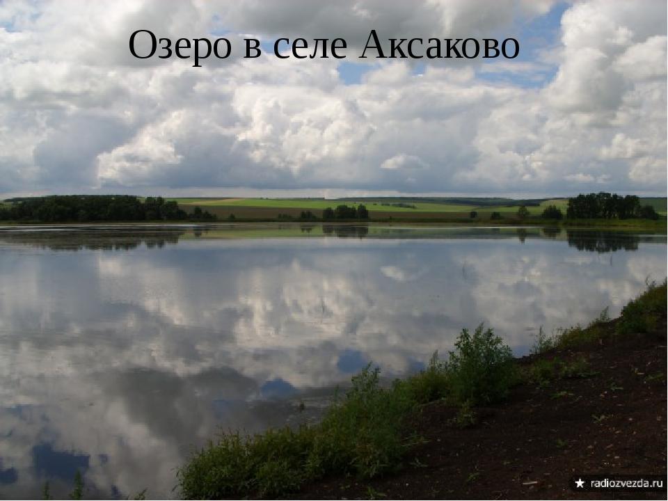 Озеро в селе Аксаково