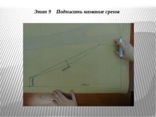 Этап 9 Подписать название срезов