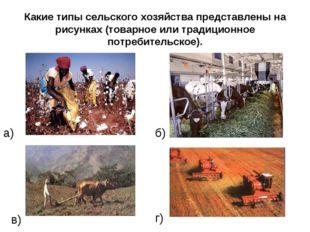 Какие типы сельского хозяйства представлены на рисунках (товарное или традици