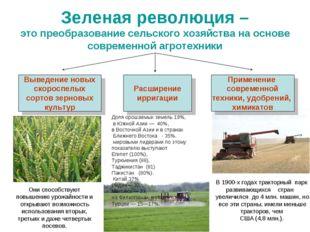 Зеленая революция – это преобразование сельского хозяйства на основе современ
