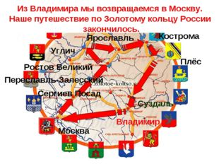 Золотое кольцо России Сергиев Посад Москва Переславль-Залесский Ростов Велики