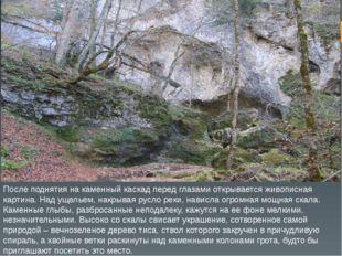 После поднятия на каменный каскад перед глазами открывается живописная картин