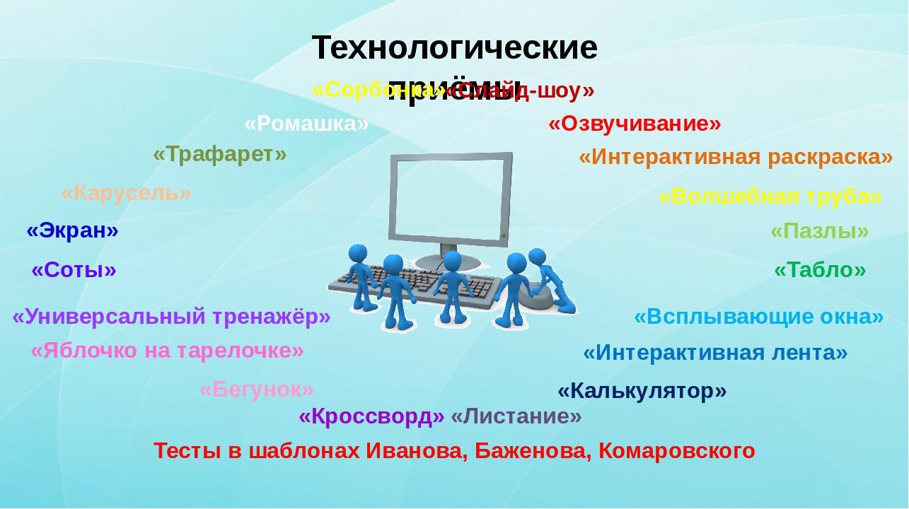 Технологические приёмы «Экран» «Карусель» «Трафарет» «Сорбонка» «Ромашка» «К...